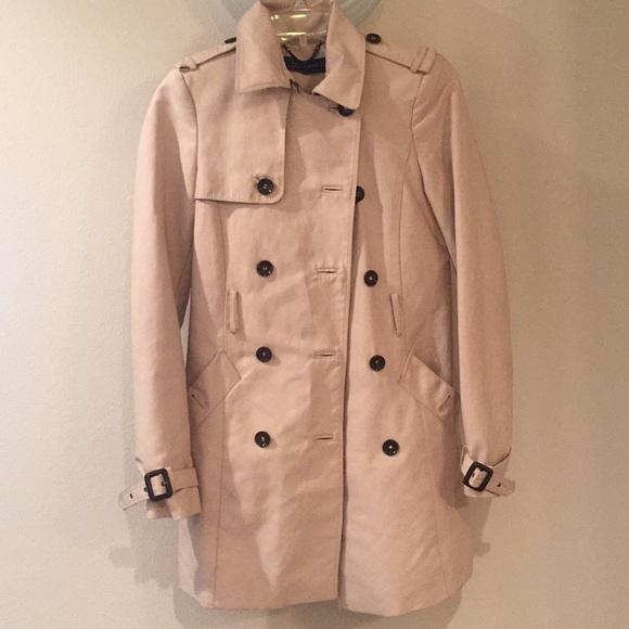 Zara Jackets & Blazers - Zara XS trench coat . Nice outside, damaged inside